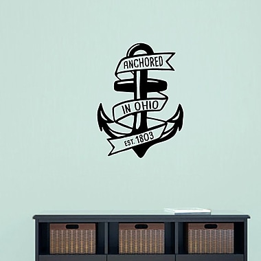 SweetumsWallDecals Anchored in Ohio Wall Decal; Black