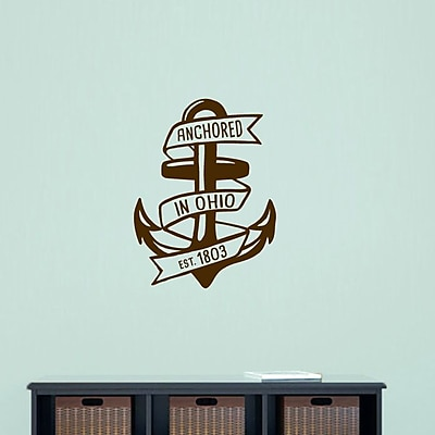 SweetumsWallDecals Anchored in Ohio Wall Decal; Brown