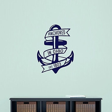 SweetumsWallDecals Anchored in Ohio Wall Decal; Navy