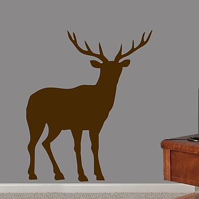 SweetumsWallDecals Buck Wall Decal; Brown