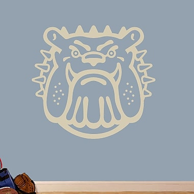 SweetumsWallDecals Bull Dog Mascot Wall Decal; Beige