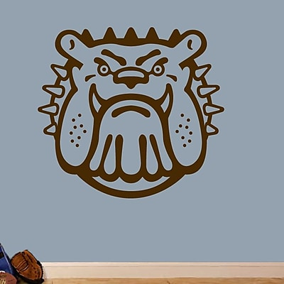 SweetumsWallDecals Bull Dog Mascot Wall Decal; Brown