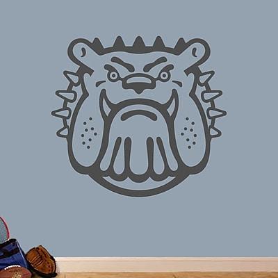 SweetumsWallDecals Bull Dog Mascot Wall Decal; Dark Gray