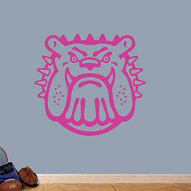SweetumsWallDecals Bull Dog Mascot Wall Decal; Hot Pink