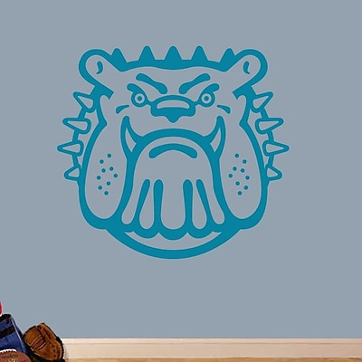 SweetumsWallDecals Bull Dog Mascot Wall Decal; Teal