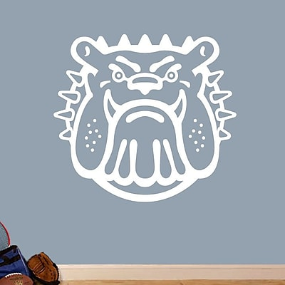 SweetumsWallDecals Bull Dog Mascot Wall Decal; White