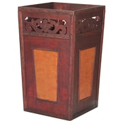 Vintiquewise Handcrafted Wood Trash Can