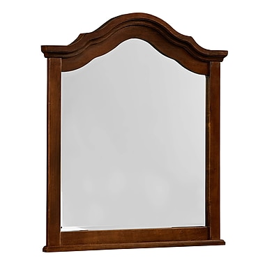Bay Isle Home Arden Arched Mirror; French Cherry