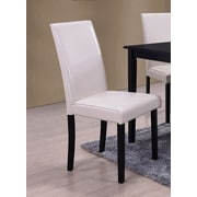 BestMasterFurniture Dining Side Chair (Set of 2); Cream