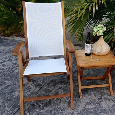 ChicTeak California Folding Dining Arm Chair