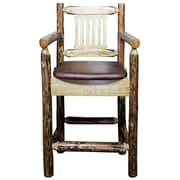 Loon Peak Tustin 24'' Square Bar Stool w/ Cushion
