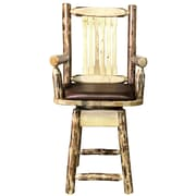 Loon Peak Tustin 24'' Square Swivel Bar Stool w/ Cushion