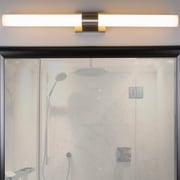 Linea di Liara Perpetua 42'' 2-Light LED Bath Bar; Brushed Nickel
