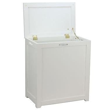 Oceanstar Storage Laundry Hamper, White (RH5513WHITE)