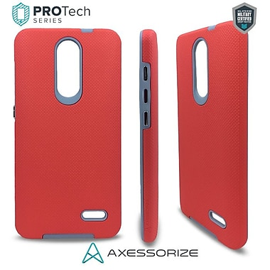 Axessorize PROTech Cell Phone Fitted Case for ZTE Grand X 4, Salmon Pink (680813001083)