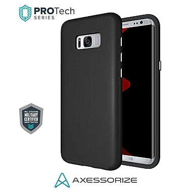 Axessorize PROTech Cell Phone Fitted Case for Samsung Galaxy S8, Black (SAMR2300)