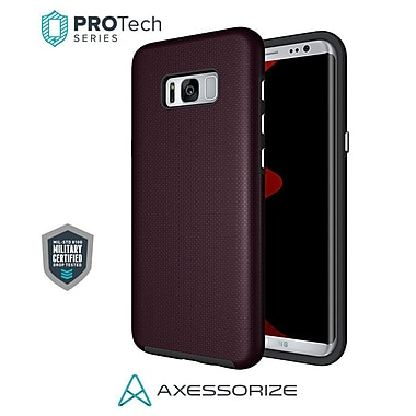 Axessorize PROTech Cell Phone Fitted Case for Samsung Galaxy S8, Burgundy Red (SAMR2303)