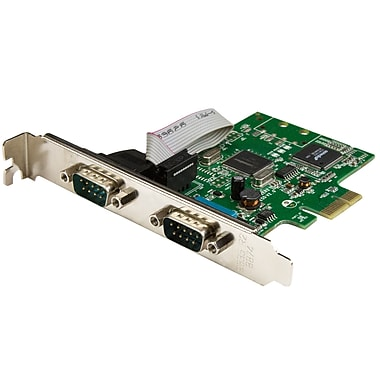 StarTech.com 2-Port PCI Express Serial Card with 16C1050 UART, RS232 (PEX2S1050)