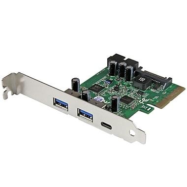 StarTech.com – Carte contrôleur PCI Express combo à 5 ports USB 3.1 - 1x USB-C, 2x USB-A + 2x IDC (PEXUSB312EIC)