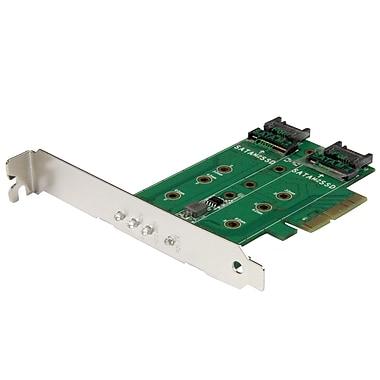 StarTech® 3-Port M.2 SSD Adapter Card, 1 x PCIe M.2, 2 x SATA III M.2, PCIe 3.0 (PEXM2SAT32N1)