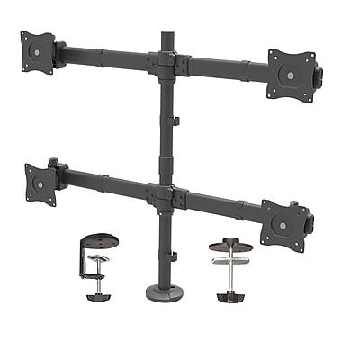 StarTech® Desk-Mount Quad-Monitor Arm, Articulating, Heavy Duty Steel (ARMQUAD)