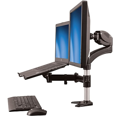 StarTech® Desk-Mount Monitor Arm with Laptop Stand, Full Motion, Articulating (ARMUNONB)