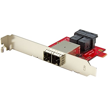 StarTech® Mini-SAS Adapter, Dual SFF-8643 to SFF-8644, with Full and Low-Profile Brackets, 12 Gbps (SFF86448PLT2)