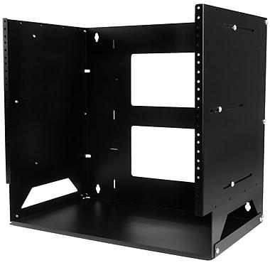 StarTech® Wall-Mount Server Rack with Built-in Shelf, Solid Steel, 8U (WALLSHELF8U)