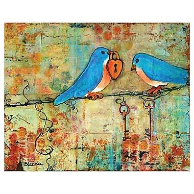 My Wonderful Walls Bird Key to My Heart by Blenda Tyvoll Wall Decal; 11.85'' H x 14.85'' W