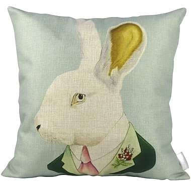 Pal Fabric Mr Rabbit Throw Pillow