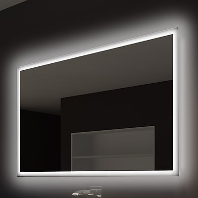 Paris Mirror Rectangle Backlit Bathroom / Vanity