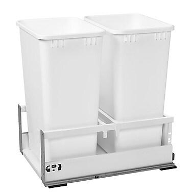 Rev-A-Shelf Double 8.75 Gallon Tandem Pullout Trash Cans