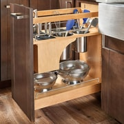 Rev-A-Shelf Pull-Out Wood Base Cabinet Organizer; 11''