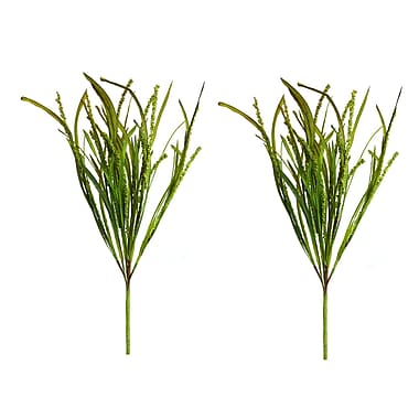 SheasWildflowers Marsh Foliage Grass Stem (Set of 2)