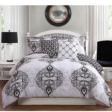 Studio17 Celine 5 Piece Reversible Comforter Set; Queen