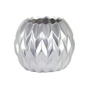 Urban Trends Ceramic Round Low Table Vase; Large