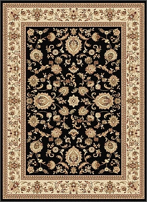 Astoria Grand Clarence Black Area Rug; 7'10'' x 10'3''