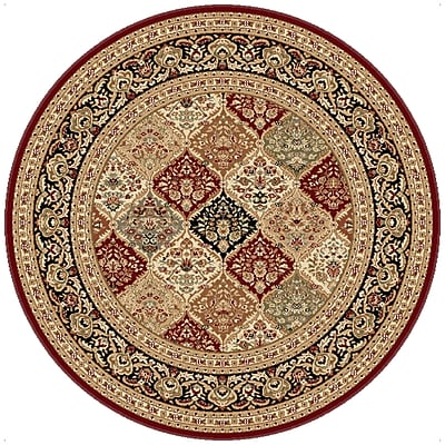 Astoria Grand Clarence Red Area Rug; Round 7'10''