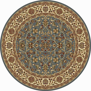 Astoria Grand Clarence Blue Area Rug; Round 5'3''