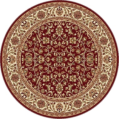 Astoria Grand Clarence Red Area Rug; Round 5'3''