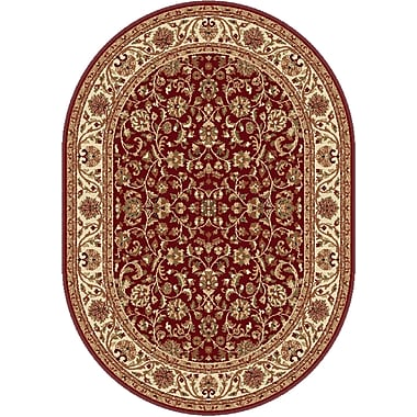 Astoria Grand Clarence Red Area Rug; Oval 6'7'' x 9'6''
