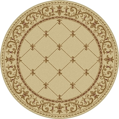 Astoria Grand Clarence Ivory Area Rug; Round 7'10''