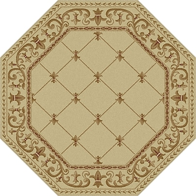 Astoria Grand Clarence Ivory Area Rug; Oval 6'7'' x 9'6''