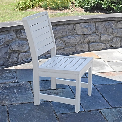 Darby Home Co Berry Patio Dining Chair; White
