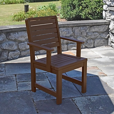 Darby Home Co Berry Dining Arm Chair; Weathered Acorn