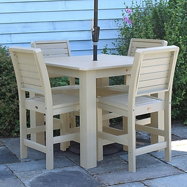 Darby Home Co Berry 5 Piece Bar Height Dining Set; Whitewash