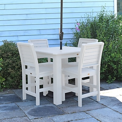 Darby Home Co Berry 5 Piece Bar Height Dining Set; White