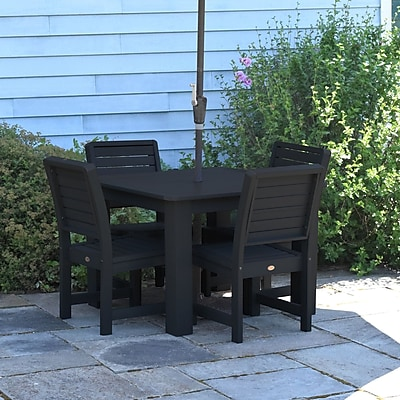 Darby Home Co Berry 5 Piece Dining Set; Black