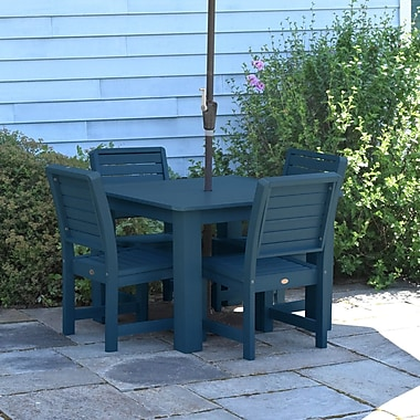 Darby Home Co Berry 5 Piece Dining Set; Nantucket Blue