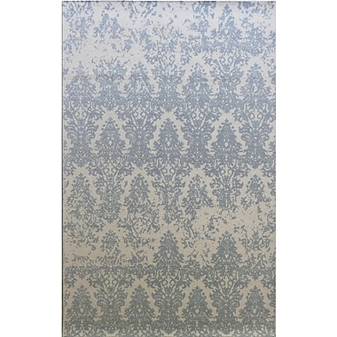 Bungalow Rose Anamaria Hand-Woven Ivory/Gray Area Rug; 8' x 11'